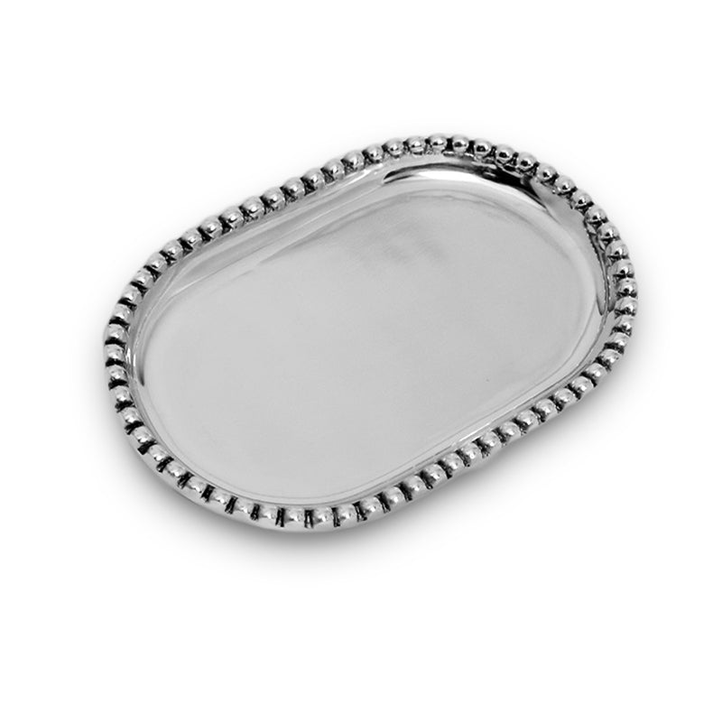 MD OVAL BEADED TRAY - Lily Fields Home