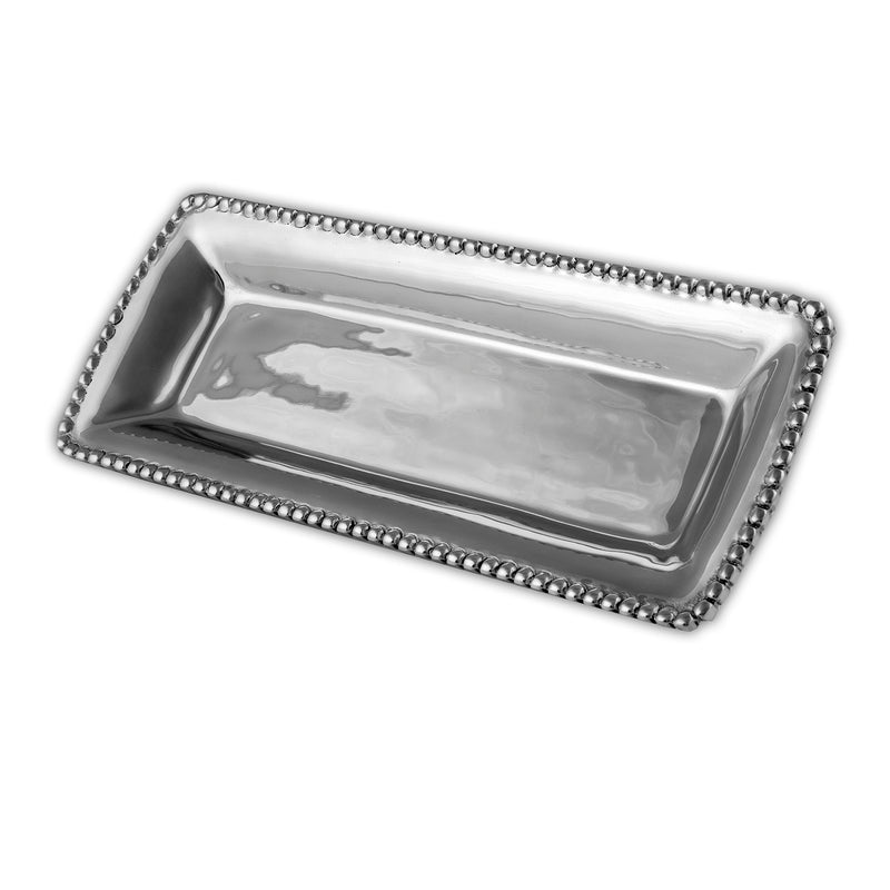 RECTANGLE BEADED EDGE PERFUME TRAY - Lily Fields Home