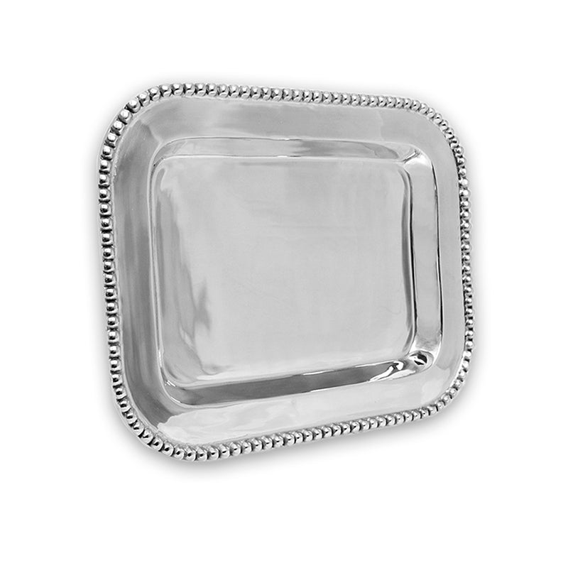 LG BEADED EDGE TRAY - Lily Fields Home