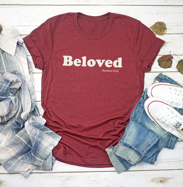 Simply Beloved Classic Tee- White Graphic