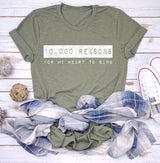10,000 Reasons for My Heart to Sing Tee- White Graphic