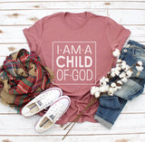 Child of God Classic Fit Tee- White Graphic