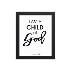 I Am a Child of God Framed Wall Art