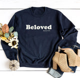 Simply Beloved Sweatshirt- White Graphic