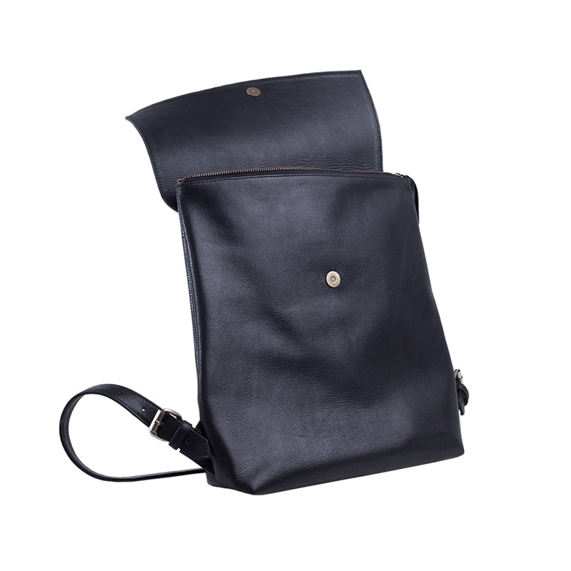Bradley Black Under Flap Duffle and Co