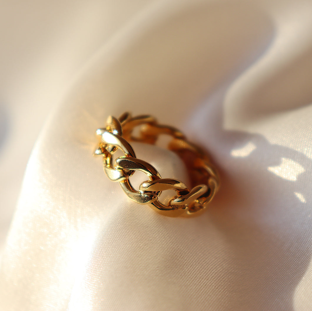 Gold Chunky Link Ring