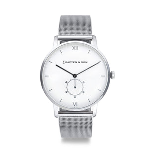 Heritage Silver Mesh | Kapten & Son WATCHES