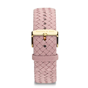 Rose Woven Leather Strap 18 MM Gold | Kapten & Son STRAPS