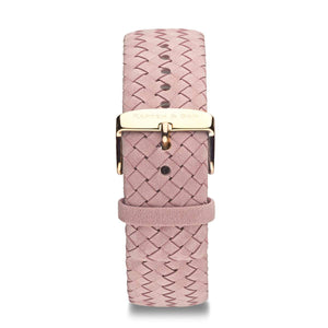 Rose Woven Leather Strap 18 MM Rose Gold | Kapten & Son STRAPS