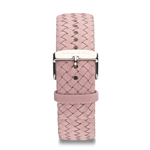 Rose Woven Leather Strap 18 MM Silver | Kapten & Son STRAPS
