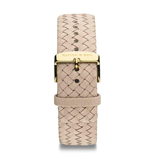 Sand Woven Leather Strap 18 MM Gold | Kapten & Son STRAPS