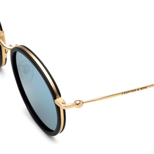 Amsterdam Black Blue Mirrored | Kapten & Son SUNGLASSES