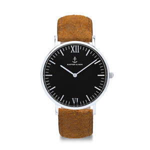 Campus Silver Black Brown Vintage Leather