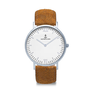 Campus Silver Brown Vintage Leather