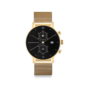 "Chrono Small Gold ""Black Mesh"""