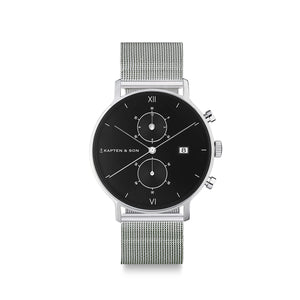 "Chrono Small Silver ""Black Mesh"""