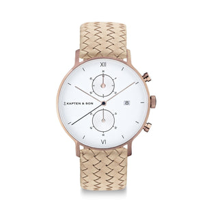 Chrono Sand Woven Leather | Kapten & Son WATCHES