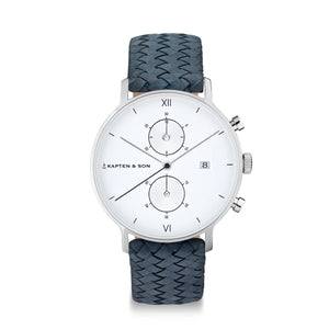 Chrono Silver Light Blue Woven