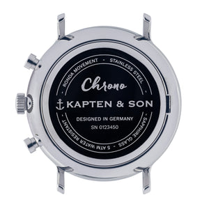 Chrono Silver Grey Vintage Leather | Kapten & Son WATCHES