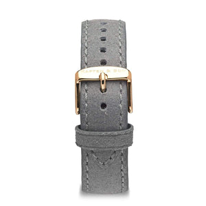 Grey Vintage Leather Strap 18 MM Rose Gold | Kapten & Son STRAPS