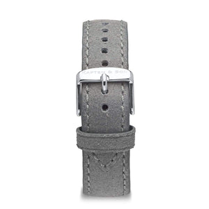Grey Vintage Leather Strap 20 MM Silver | Kapten & Son STRAPS