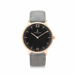 Campina Black Grey Vintage Leather | Kapten & Son WATCHES