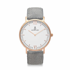 Campus Grey Vintage Leather | Kapten & Son WATCHES