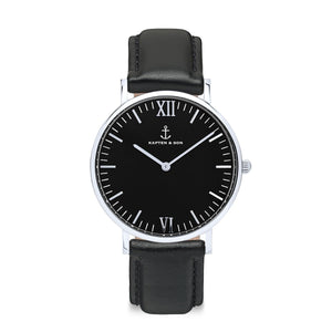 Campus Silver All Black | Kapten & Son WATCHES