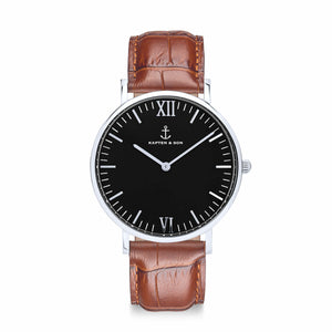 Campus Silver Black Brown Croco Leather