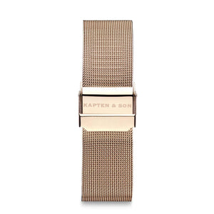 Mesh Strap 20 MM Rose Gold | Kapten & Son STRAPS