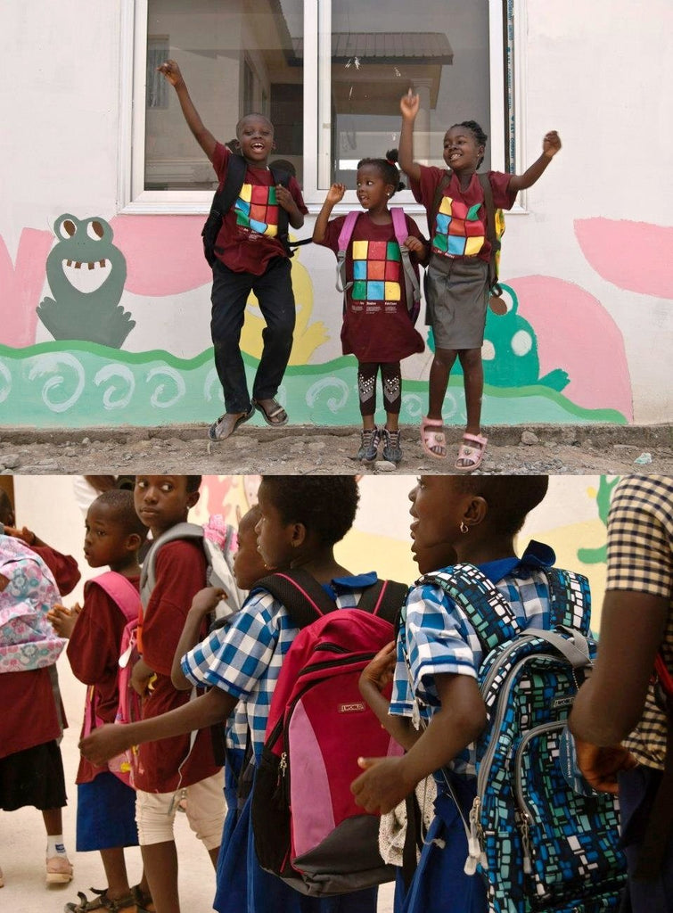 J World New York donates backpacks to Kids in Ghana