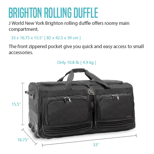 J WORLD DUFFEL BAG BRIGHTON