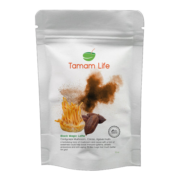 Tamam Life Co. Black Magic Latte Label Front