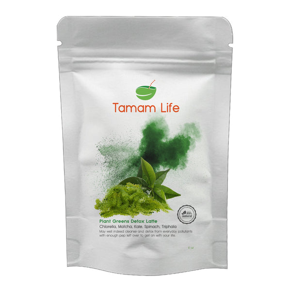 Tamam Life Co. Protein Green Detox Latte Label Front