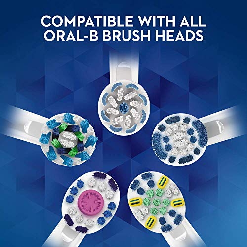 Oral-B Genius 9000 3D White Electric Toothbrush, Whitening, Sensitive, Gum Care, 4 Toothbrush Heads, USB Travel Case