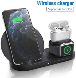 New 3 in 1 Fast Wireless Charging Station for iPhone, AirPods Pro and Apple Watch