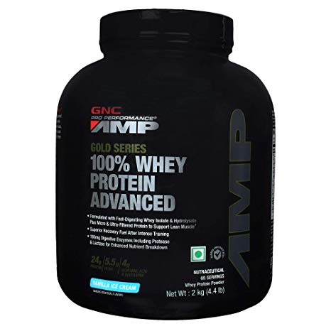 GNC AMP Amplified Gold 100% Whey Protein Advanced