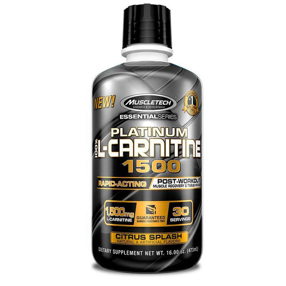 Muscletech Essential Series Platinum 100% L-carnitine - 30 Servings