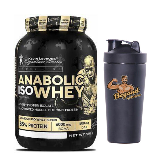 anabolic isowhey 2lbs (6 samples free inside) + 1 steel shaker free