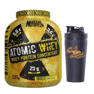 Nuclear Nutrition Atomic Whey Protein 2.27kg (steel shaker free)