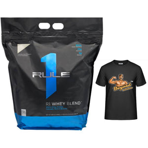 Rule 1 Whey Blend 10lbs (free T-shirt)