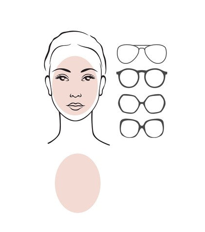 glasses for oval face female