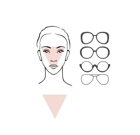 glasses for triangle face female