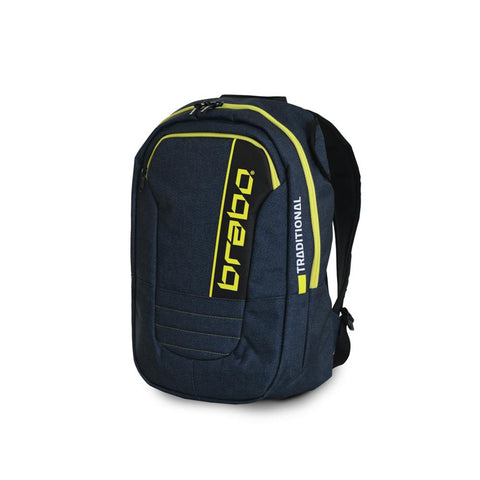 Mochila Brabo Junior Traditional denim Azul/Amarillo