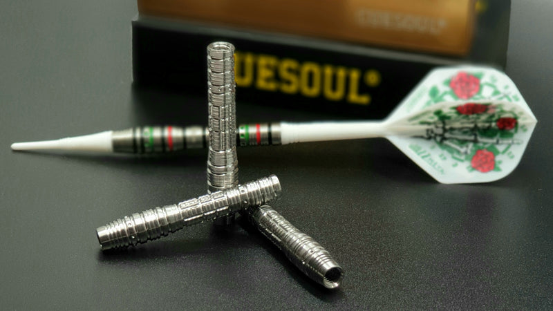 1. CUESOUL JAZZ-METAL NYTRO CUSTOM DESIGNS 19g Soft Tip 90% Tungsten Dart Barrel Set, Front Loaded Shape (2 options)