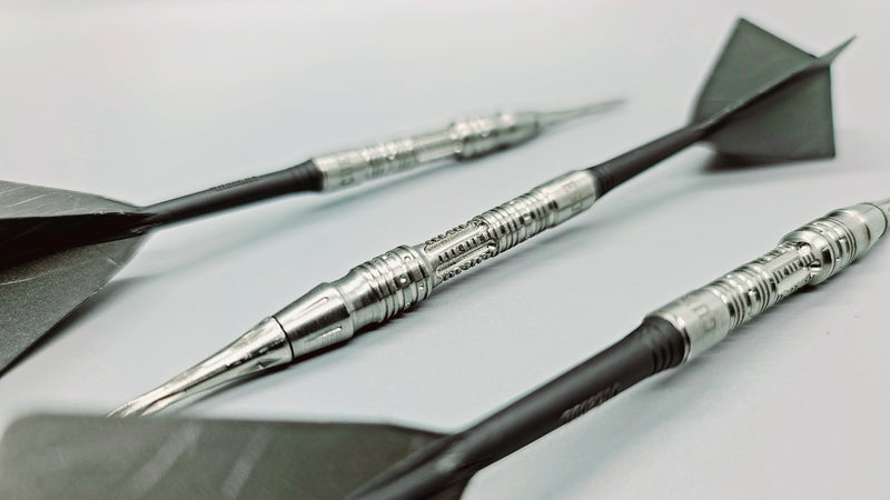 1. CUESOUL JAZZ-METAL NYTRO CUSTOM DESIGNS 20g Soft Tip 90% Tungsten Dart Barrel Set, Front Loaded Shape (2 options)