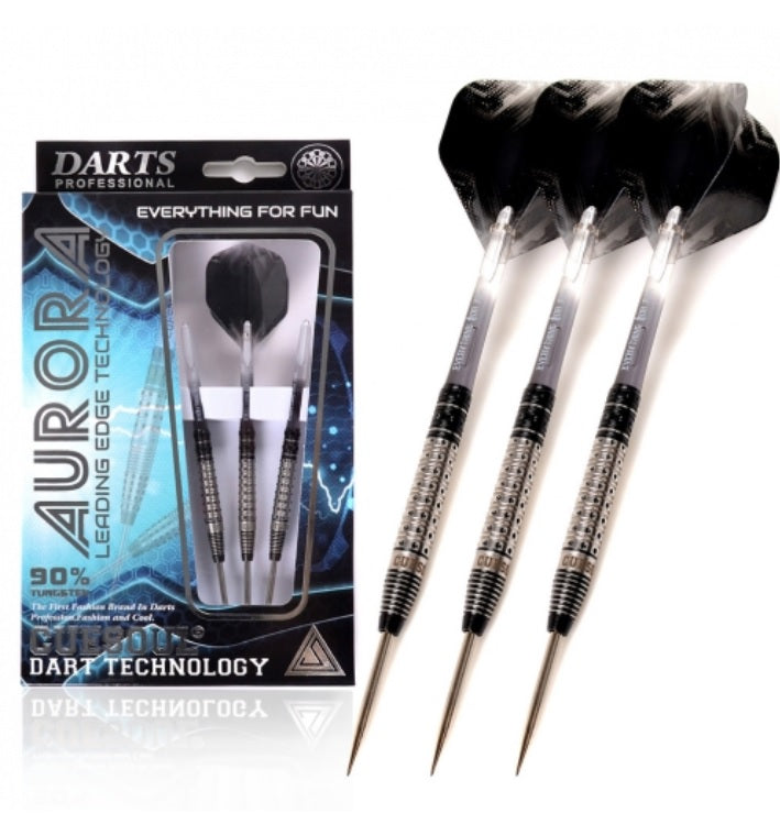 Cuesoul AURORA 21/23/25g Tungsten Dart Set with Black Titanium Nitride Coating
