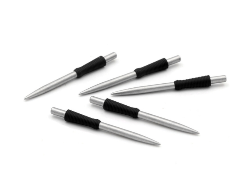 7. CUESOUL TOUCH POINT I Replacement Dart Steel Point, Steel Tips, Pack of 5pcs (2 Lengths, 4 Colors & 4 Designs)