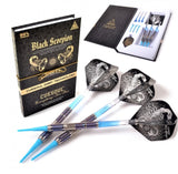 Cuesoul BLACK SCORPION 18g Tungsten Soft Tip Dart Set, Blue Titanium Coated Finish
