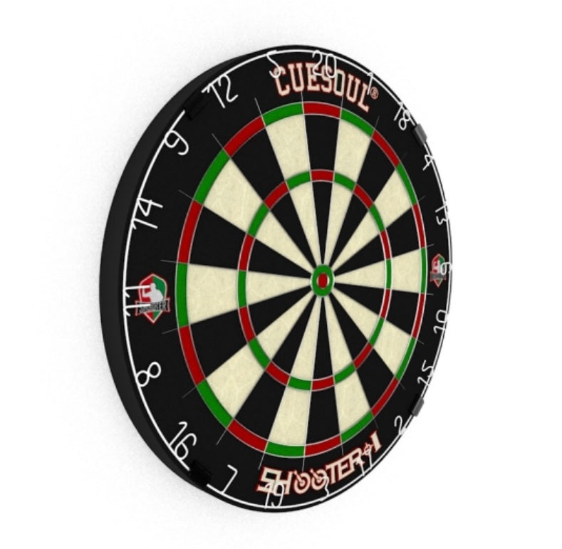 "8. CUESOUL SHOOTER-I 18"" 1-1/2"" Official size tournament Kenyan Sisal bristle dartboard, Approved by WDF"